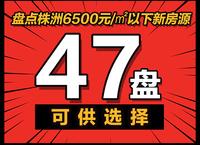 株洲6500元/㎡以下房源,47盘可选择!
